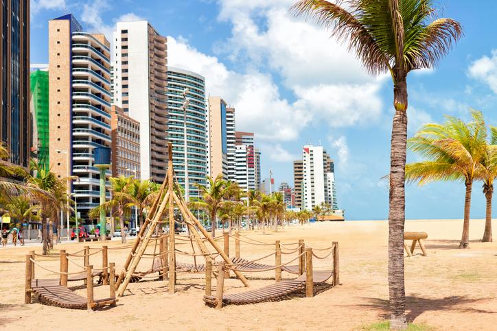Praia de Iracema, em Fortaleza