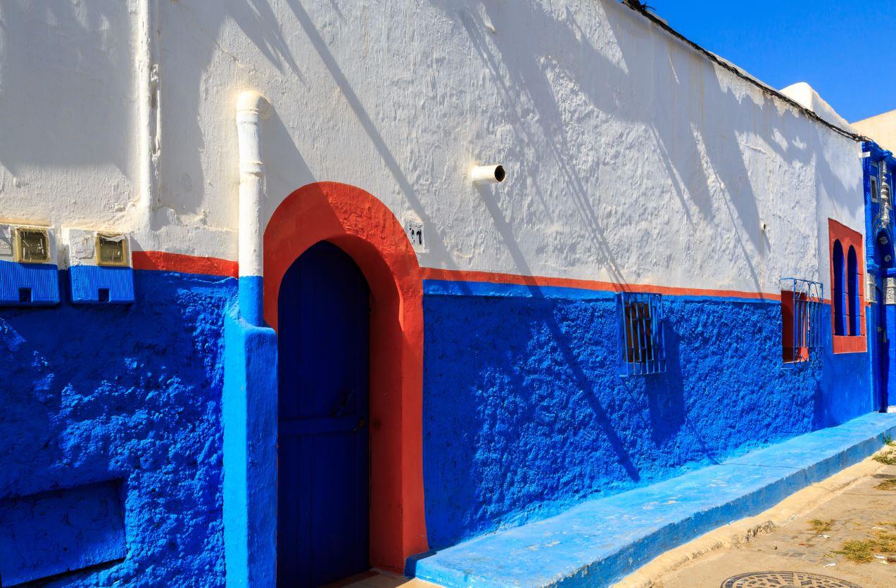 maison bleue rabat