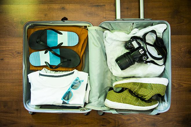 reduzir o peso de sua mala