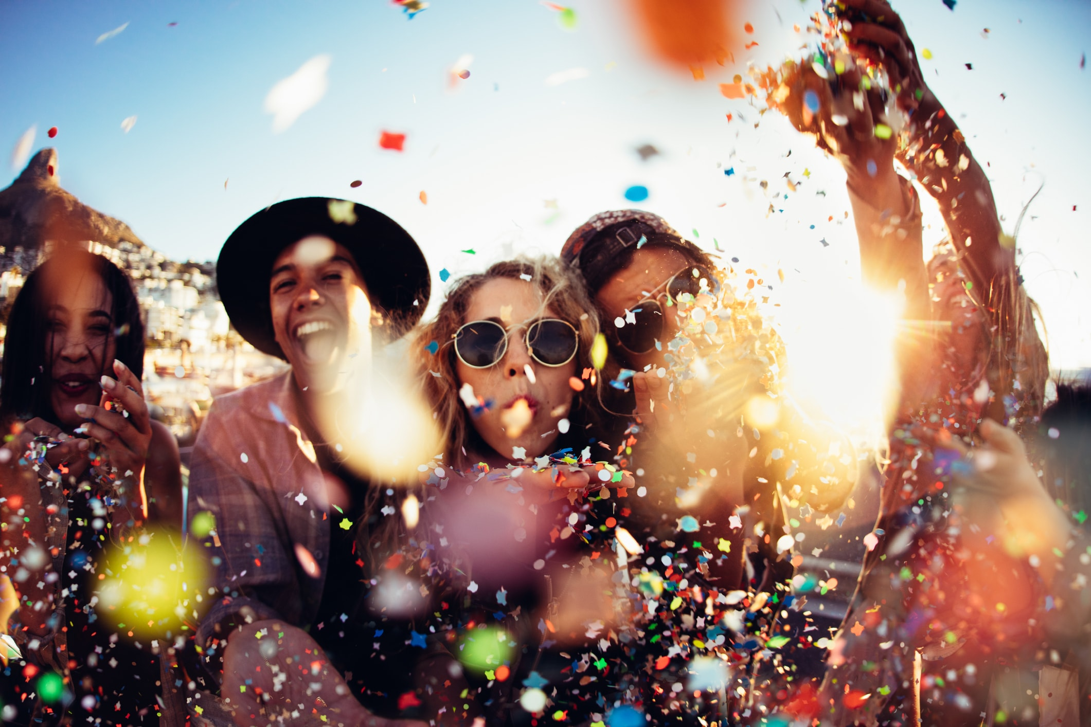 Jeunes à un Festival