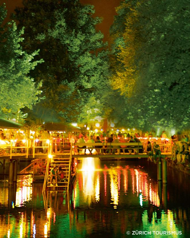 Zurich Sihl Limmat Lake Zurich outdoor bar Zurich drinks nights out