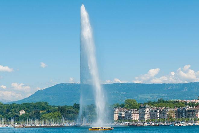 Brunnen Genf