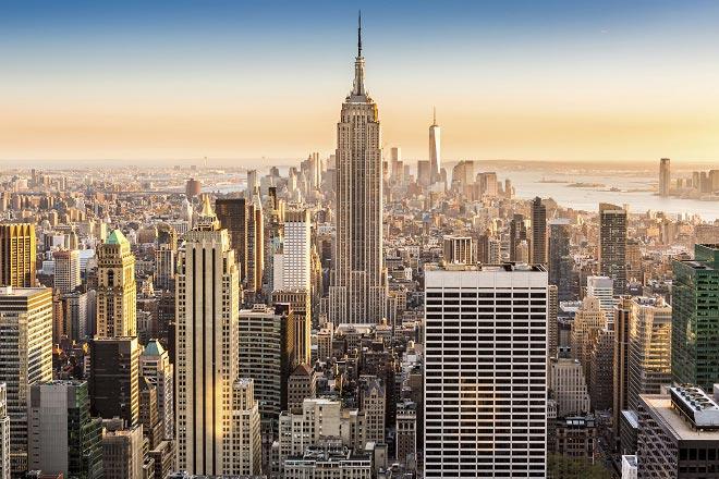 Vista sui grattacieli di New York