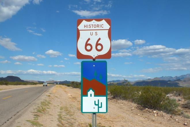 La famosa Ruta 66 de Los Estados Unidos