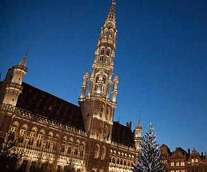 Sampling a christmas beer in Brussels