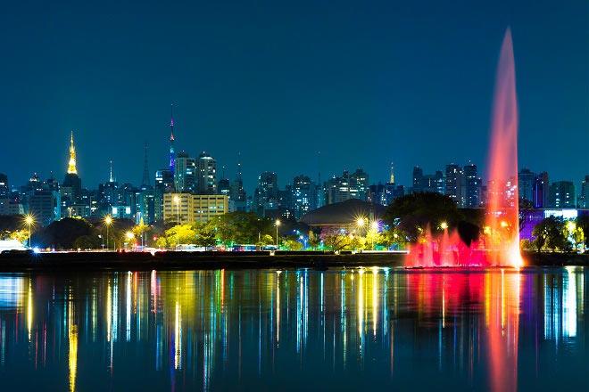 Admiring Sao Paulo in its Christmas garb