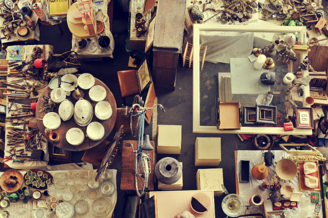 A second hand vintage store