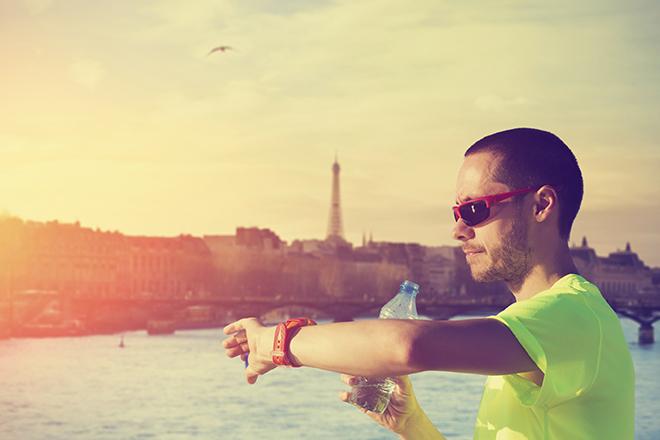 romantischen Paris Sportlicher
