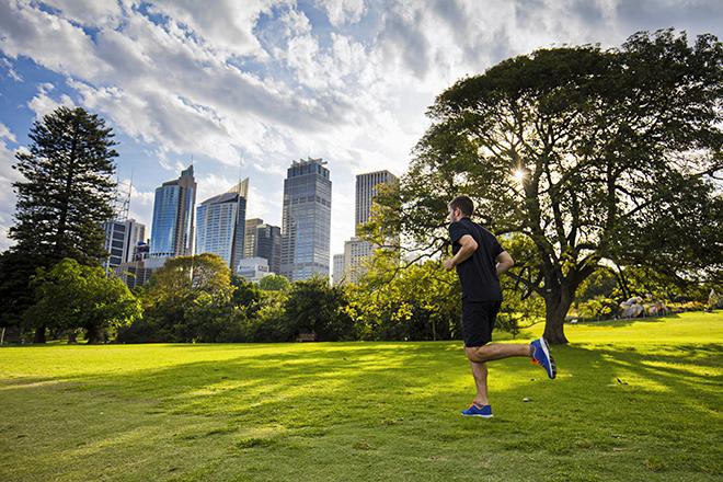 Sydney Sportlicher Laufschritt