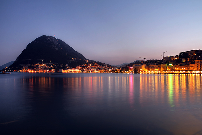 Hoch über Lugano