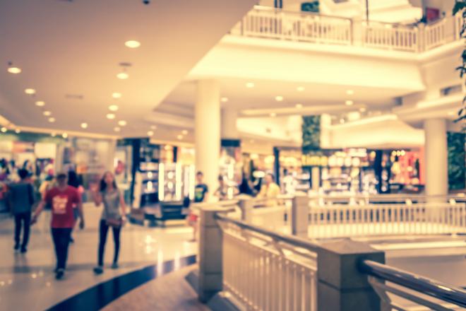 Busy shopping centre