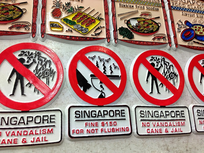 Quirky Singapore Magnets