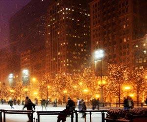 Schlittschuhlaufen                                        in Chicago