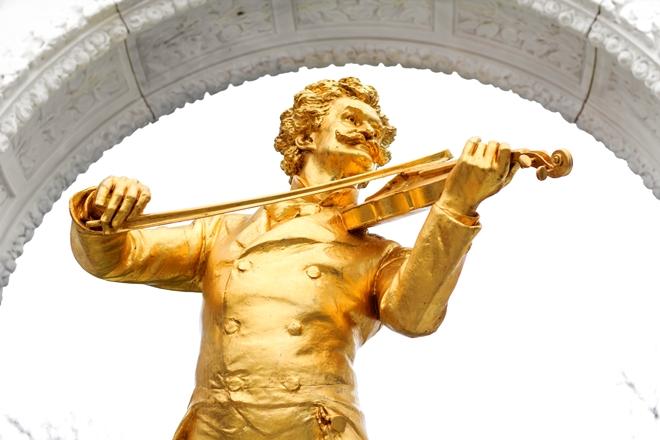 Statua di Johann Strauss in Stadtpark