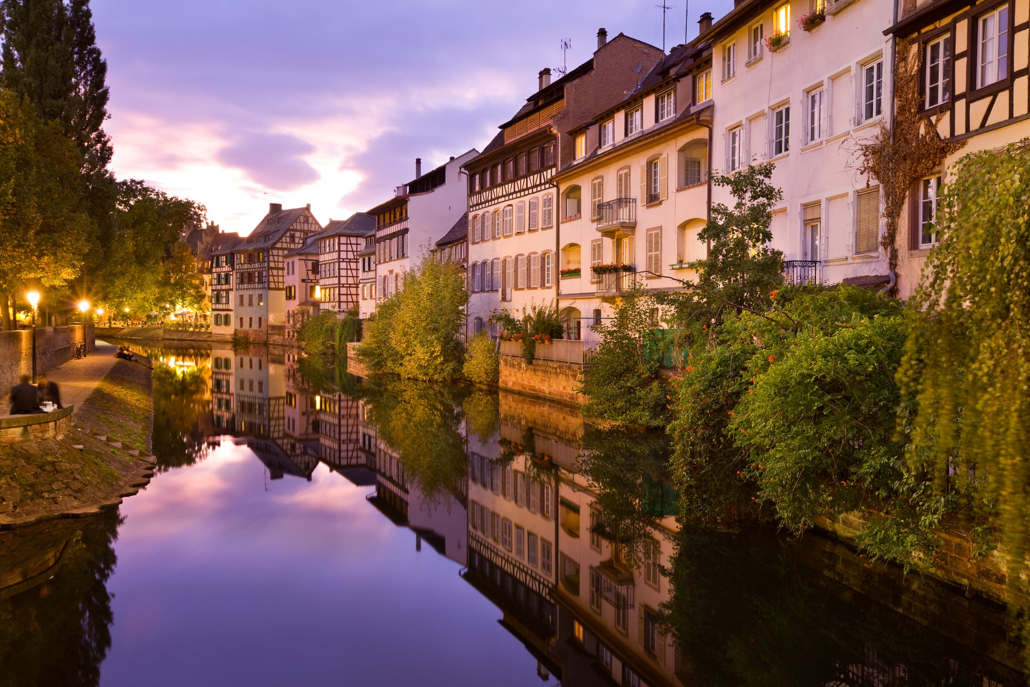 Rues Strasbourg Nuit