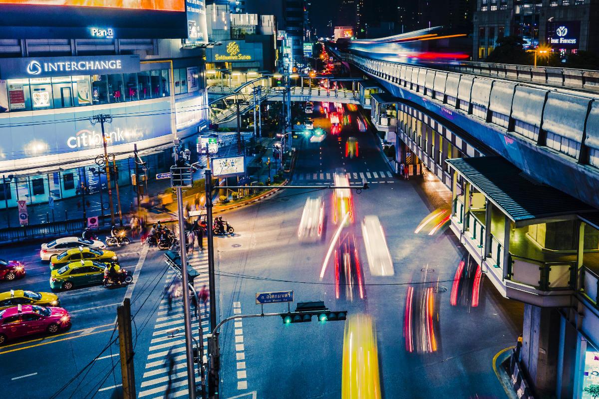 sukhumvit street night view