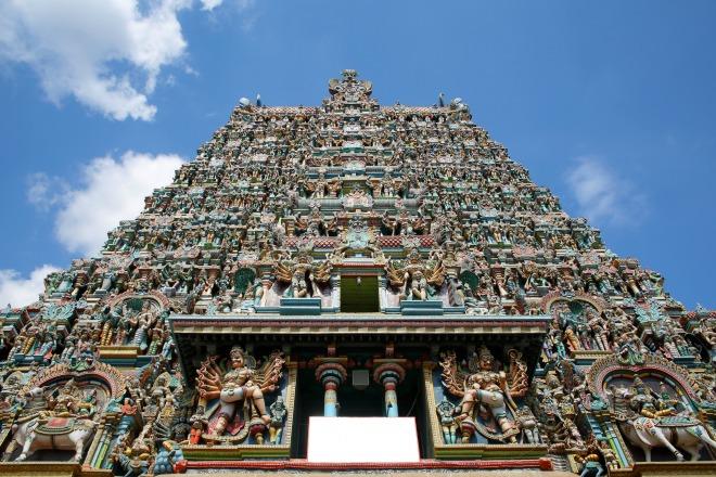 La belleza de los templos en Tamil