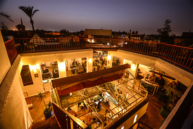 Terrasse du cafe clock marrakech