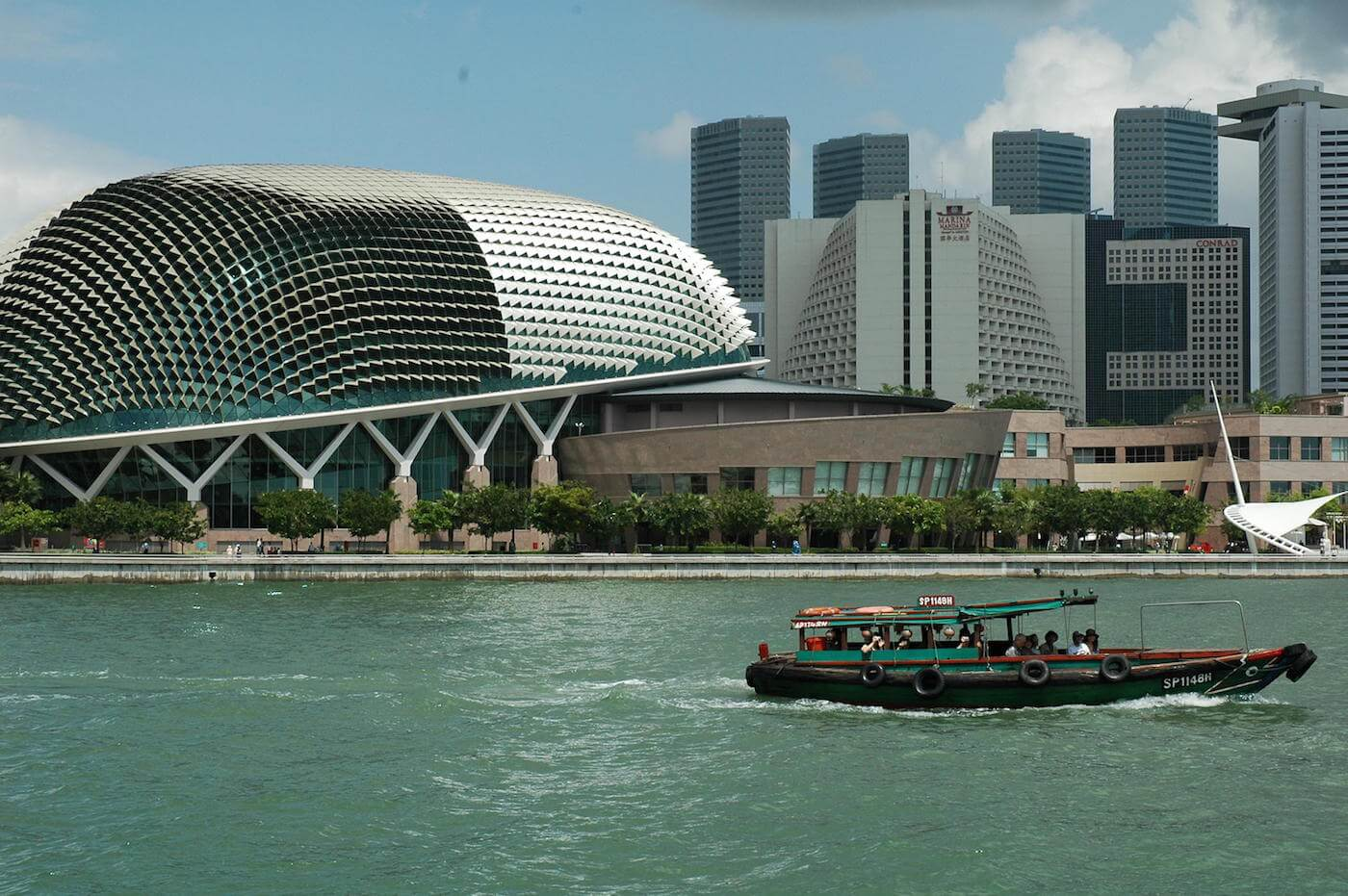 The Singapore River Cruise has some of the best sights of Marina Bay (pictured: Esplanade) Source: Jpatoka