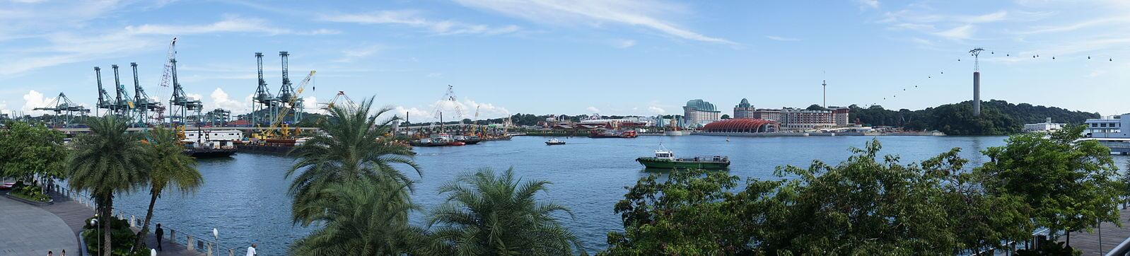 The view of Sentosa from VivoCity. Source: Tdxiang