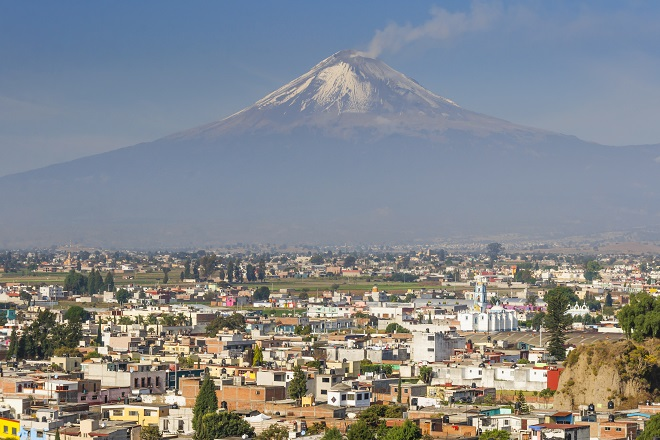 Volcán Popocatepetl que podrás ver en tu viaje a México