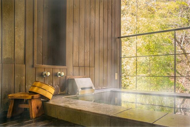 Baño Onsen típico de la cultura japonesa