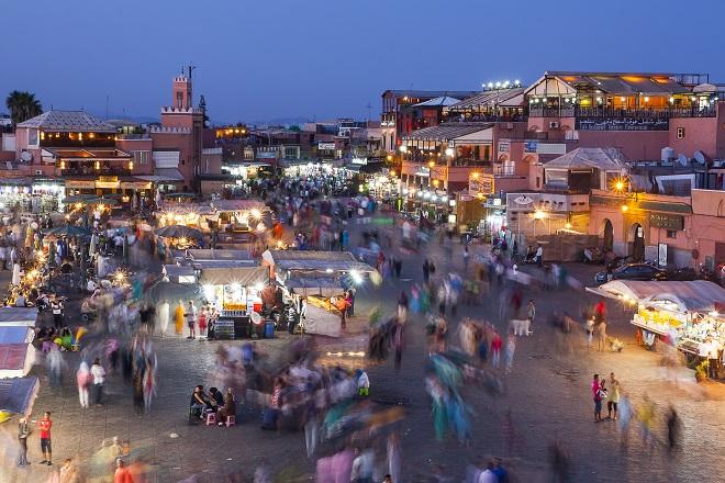 Vistas del Zoco de Marrakech