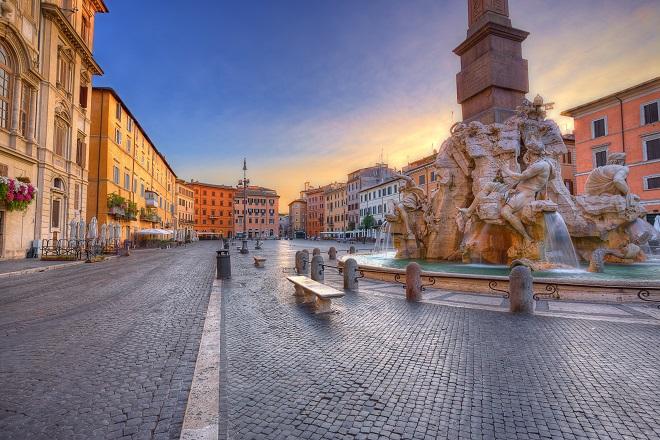 Fuente de los Cuatro Rios en la Piazza Navona