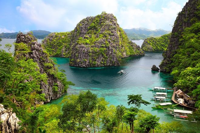 Paisaje de las Islas Busuanga, Filipinas