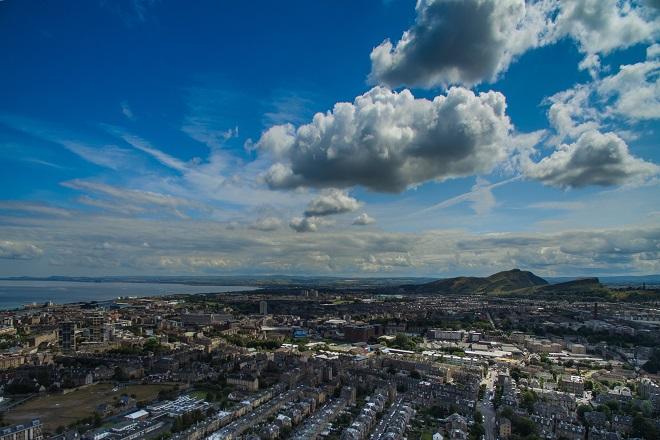 Vista aérea de Escocia