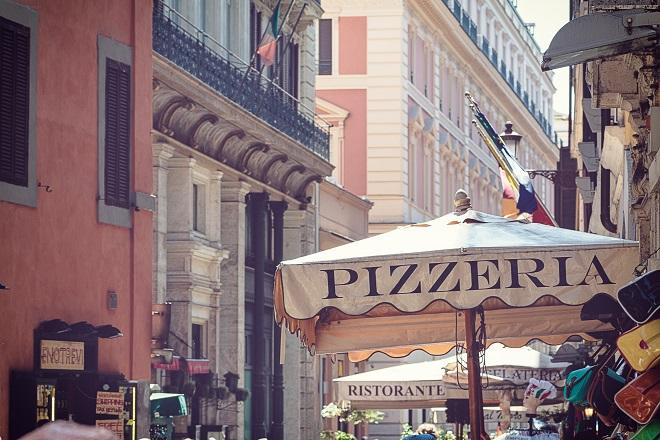 Pizzería en el Trastévere de Roma