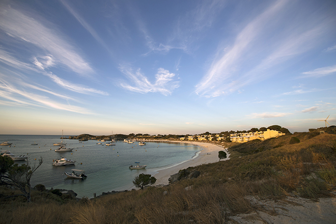 Sun setting over Thomson Bay on Rottnest Island
