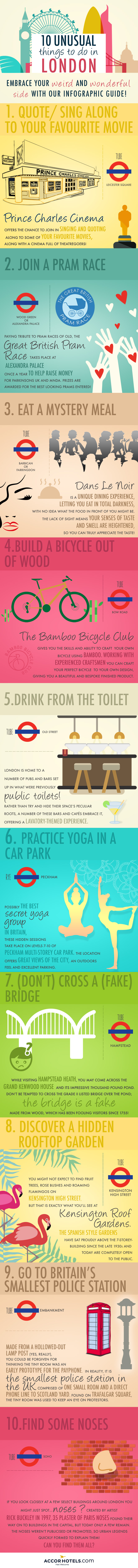 unsual things to do London