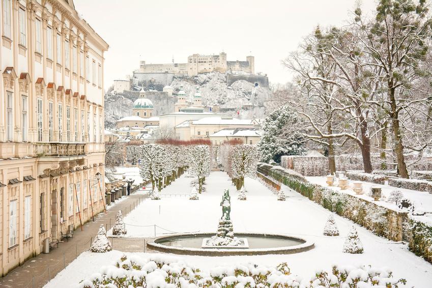 Das Schloss Mirabell im Winter