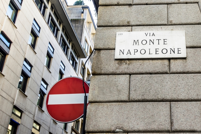 Via Montenapoleone Milano