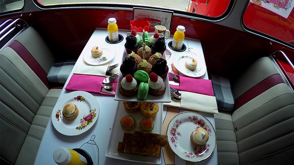 Afternoon tea from the top floor !