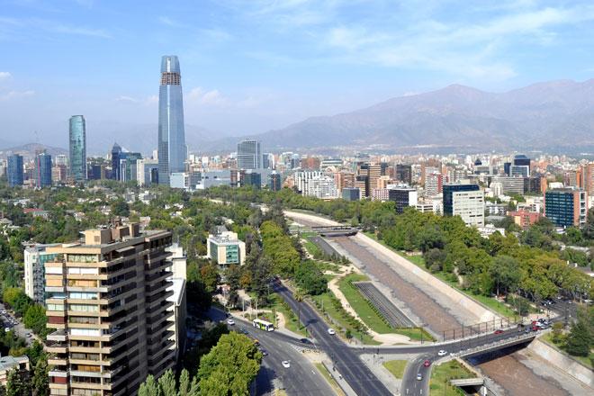 Vista aérea de Santiago (Fotos: Getty Images)