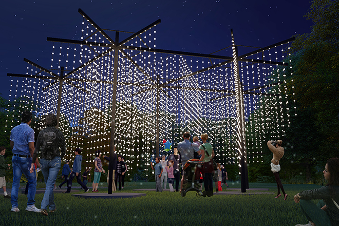 Get up close to installations at Vivid Light Walk