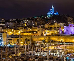 Being entranced by a magical spectacle in Marseilles