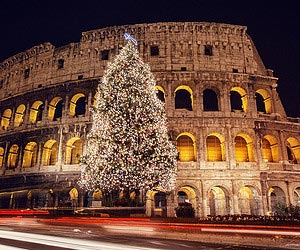 Being entranced by a magical spectacle in Rome