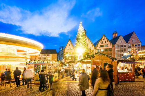 Das Weihnachtsmarkt.Von Wolkenkratzern Und Engelsgesang Der Weihnachtsmarkt In Frankfurt