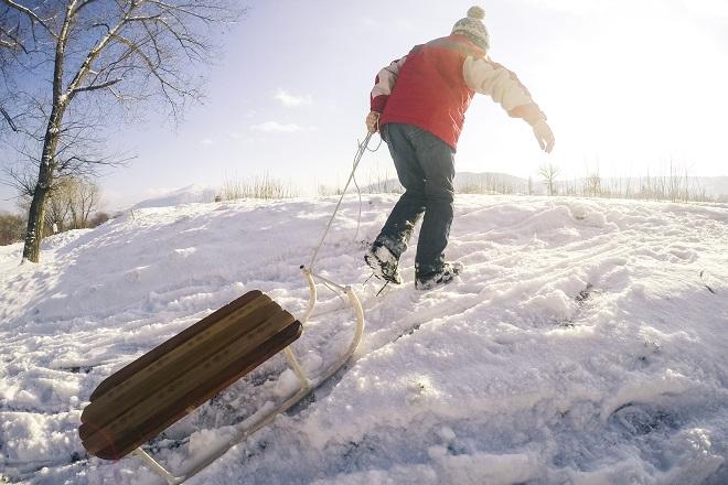 snow toboggan