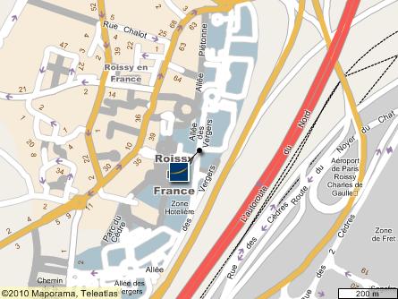 巴黎市中心地图